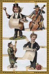 Poezieplaatjes Muzikanten Nostalgisch MLX001 (Locatie: MP024 )