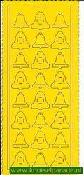 Pop-outs kerstklokjes 2 stuks geel SPS8702 (Locatie: J262 )