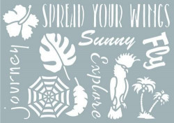Pronty stencil Tropical nature 1 A5 (Locatie: 5523)
