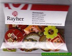 Rayher motiefknopen 30 stuks 79 145 00* (Locatie: 1C )