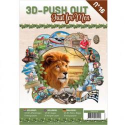 Stansboek Just for Men 24 afbeeldingen en 8 designpapier, 3DPO10016 (Locatie: 0407)