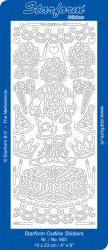 Starform sticker feest zilver 900 (Locatie: J240)