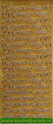 Starform sticker goud joyeuses paques 580 (Locatie: L97 )