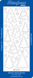Starform sticker kerstbomen velvet blauw 7107 (Locatie: C302)