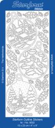 Starform sticker zilver kerst 8502 (Locatie: B207)