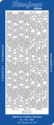 Starform sticker zilver randje 1265 (Locatie: L205)