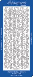 Starform stickervel kerst rand zilver 8508 (Locatie: H187)