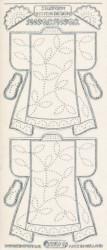 Starform stickervel kleding transparant zilver 3207 (Locatie: u079)