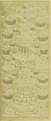 Starform stickervel taarten goud 1201 (Locatie: g156)