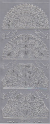 Starform stickervel waaier zilver 1014 (Locatie: zz115)