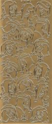 Sticker goud kerst DD7019 (Locatie: G164)