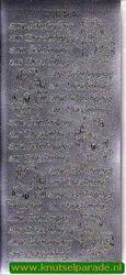 Sticker zilver zum schulanfang DD 3456 (Locatie: NN091 )