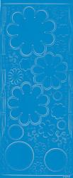 Stickervel blauw bloemen 0400 (Locatie: S107 )