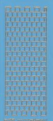 Stickervel blauw/goud nr. 3020 (Locatie: K150)