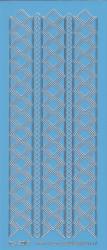 Stickervel blauw/zilver nr. 3019 (Locatie: K141)