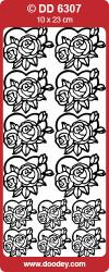 Stickervel bloemen zilver DD6307 (Locatie: B086)