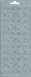 Stickervel cijfer 25 zilver 3661 (Locatie: u250)