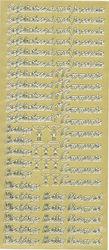 Stickervel goud heilige communie (Locatie: g090)