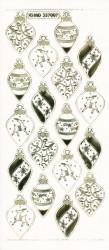 Stickervel kerstballen goud transparant MD357005 (Locatie: T136)