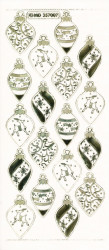 Stickervel kerstballen goud transparant MD357007 (Locatie: T136)