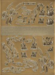 Stickervel kikkers goud 3012 (Locatie: 6002)