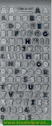 Stickervel letters zilver nr. MD 351551 (Locatie: C018 )