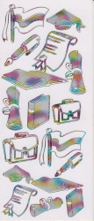 Stickervel multicolor geslaagd (Locatie: j552)