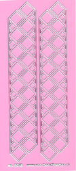 Stickervel roze/zilver nr. 3012 (Locatie: K168 )