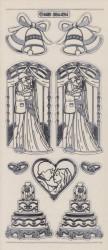 Stickervel transparant zilver huwelijk zilver MD356424 (Locatie: A013 )