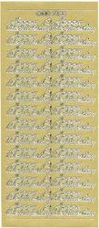 Stickervel Valentijnsdag goud DD2133 (Locatie: A014)