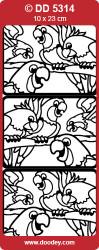Stickervel zilver dieren DD5314 (Locatie: F037)
