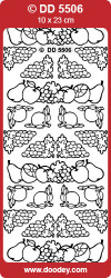 Stickervel zilver fruit DD5506 (Locatie: A214)