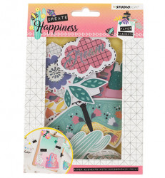 Studio Light Easy Die Cut Paper Set Create Happiness EASYCR647 (Locatie: s2)