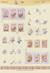 't Boekensteuntje knipvel witte bloemen 0028 (Locatie: 2412)