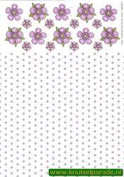 Tierelantijntje knipvel bloemen 3312 (Locatie: 4404)