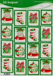 Voorbeeldkaarten knipvel kerst 2131 (Locatie: 5631)