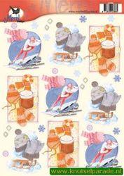 Voorbeeldkaarten knipvel merel design 2388 (Locatie: 356)