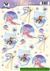 Voorbeeldkaarten knipvel merel design 2389 (Locatie: 356)