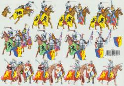 Voorbeeldkaarten knipvel ridders 8707 (Locatie: 5519)