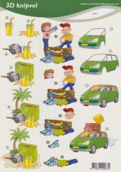 Voorbeeldkaarten knipvel vakantie 2487 (Locatie: 4709)