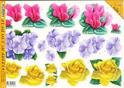 Voorbeeldkaarten stansvellen bloemen set 1 (Locatie: 2691)