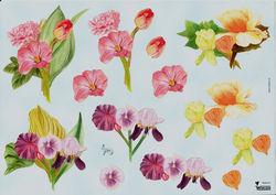 Wekon knipvel bloemen W80372 (Locatie: 1452)