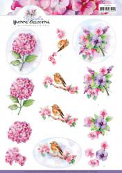 Yvonne Creations knipvel bloemen CD11362 (Locatie: 2577)