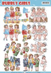 Yvonne Creations knipvel Bubbly girls CD11158 (Locatie: 2558)