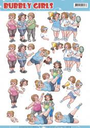 Yvonne Creations knipvel Bubbly girls sport CD11174 (Locatie: 2831)