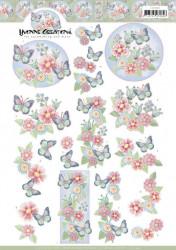 Yvonne Creations knipvel vlinders CD11449 (Locatie: 0949)