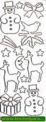 Starform stickervel glitter zilver kerst 9551 (Locatie: T024 )