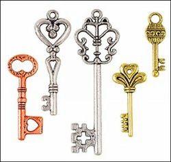 Steampunk bedels sleutels medium STEAM012 (Locatie: 1D )