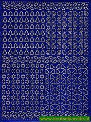 Multi dots sticker holografisch blauw kerst (Locatie: 5950)
