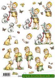 Ollyfant 3D vel jongen met hondje 117145/1201 (Locatie: 6758)